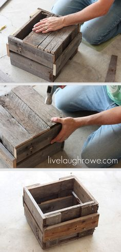 Pallet Planter Box Bottom - shows these planter boxes aren't very tall