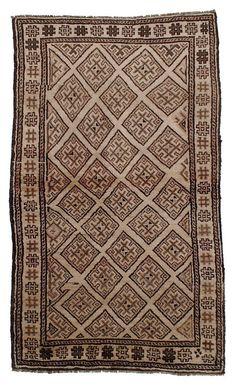 "Vintage Persian Baluchi Rug 4'2""x7'6"" - Hunttrugs —"