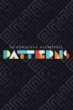 50+Stunningly+Beautiful+Geometric+Patterns+In+Graphic+Design