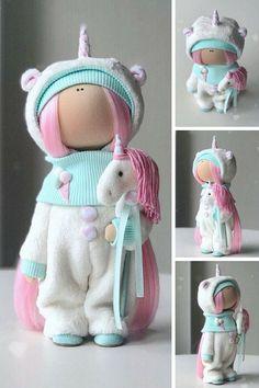 Best 12 Unicorn Art Doll Handmade Fabric Doll Poupée Tilda Doll Textile Cloth Doll Bambole Rag Doll Muñecas Green Winter Decor Doll by Yulia K __________________________________________________________________________________________ Hello, dear visitors! Unicorn Art, Handmade Home Decor, Handmade Crafts, Soft Dolls, Fabric Dolls, Doll Patterns, Fabric Crafts, Doll Clothes, Creations