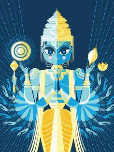 Indian-inspired art; Sanjay Patel