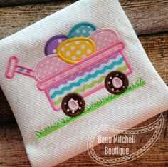 Easter Egg Wagon with grass | Beau Mitchell Boutique