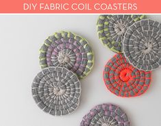 Make It: Colorful DIY Fabric Coil Coasters