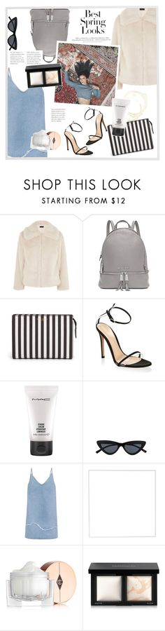 """""""Spring is almost here"""" by mafaldamf ❤ liked on Polyvore featuring H&M, Topshop, Michael Kors, Henri Bendel, Gianvito Rossi, MAC Cosmetics, M.i.h Jeans, Menu, Charlotte Tilbury and Bare Escentuals"""