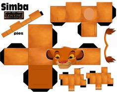 Disney Papercraft Image Detail For Simba Origami Lion in Paper Crafts Disney. 3d Paper Crafts, Paper Crafts For Kids, Paper Toys, Foam Crafts, Lion King Crafts, Lion Craft, Lion King Party, Lion King Birthday, Disney Diy