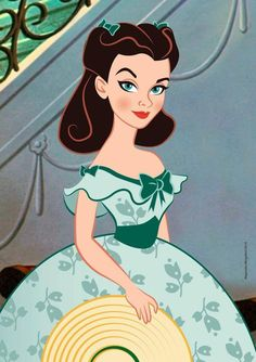 Scarlett O'Hara reimagined as a Disney character.