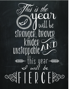 Awesome Fierce Quote Free Printable!