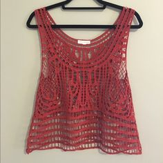 Coco + Jameson see through lace tank top. Never worn. Great for outside concerts! Coco + Jameson Tops Tank Tops