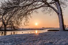 Winter - Zonsondergang in de Krimpenerwaard.