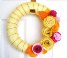 exterior want.  i am seeking gorgeous yarn wreaths for my front door.  i am willing to have several and change out with the seasons, but they must be colorful, fun, but still classy.  there are several more examples on my wists: http://wists.com/josasser