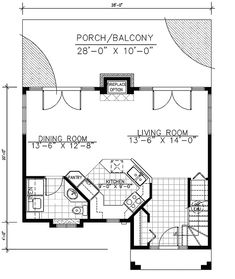 10x28 1 Bedroom 1 5 Bath Small Houses Pdf By Excellentfloorplans Empty Nesters House Plans And