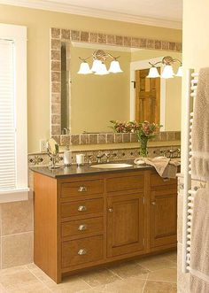 Image Gallery For Website Tile around mirror and back splash