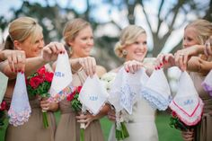 Southern Belle Wedding Traditions ✈ Embroidered Handkerchiefs!!! Bebe'!!! A Sweet old fashioned Southern Tradition!!!