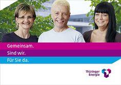 Kampagne mit Mitarbeitergesichtern Kampagne - Kampagne - Über uns - Unternehmen - Thüringer Energie