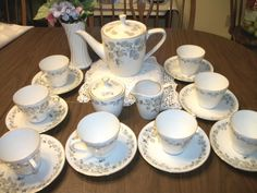 Find everything but the ordinary Antique Tea Sets, Bavaria Germany, China Dinnerware, The Ordinary, Tea Cups, Vase, Coffee, Antiques, Tableware