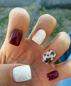 Are you looking for fall acrylic nails colors art designs that are excellent for this fall? See our collection full of fall acrylic nails colors art designs ideas and get inspired! Nail Art Designs 2016, Fall Nail Designs, Acrylic Nail Designs, Winter Nail Art, Autumn Nails, Pink Gel, Nail Art Halloween, Halloween Makeup, Design Mignon