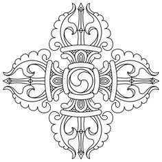 File:Faith Buddhism Vajra BW.svg - Wikimedia Commons Tibetan Tattoo, Tibetan Art, Tibetan Buddhism, Buddhist Symbol Tattoos, Buddhism Symbols, Tibetan Symbols, Vajrayana Buddhism, Japan Painting, Thai Art