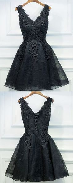 black homecoming dresses, lace up homecoming dresses, little black dresses