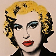 Amy Winehouse as Marilyn Monroe, by Mr.brainwash, Pop Art, Street Art, Grafitti.