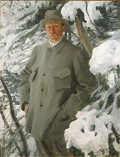 Bruno Liljefors (also a swedish painter) by Anders Zorn