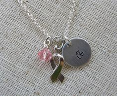 Personalized Hand Stamped Awareness Necklace by kimgilbert3, $16.00
