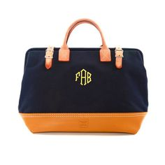 "Custom Monogram Bag 16"" Navy now featured on Fab."