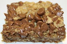 Death By Peanut Butter Bars