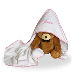 Hooded Towel and a Plush Bear for Baby Girl Personalized – Trendly Shares Handmade Baby Gifts, Personalized Baby Gifts, Newborn Baby Gifts, Baby Girl Gifts, Baby Girl Gift Baskets, New Moms, New Baby Products, Baby Kids, Towel