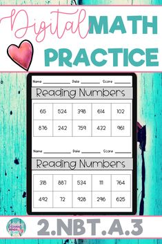 These math practice sheets allow your students to practice and gain mastery of the second grade standard 2.NBT.A.3; Reading and Writing Numbers. Created in Google Slides, this resource can be used on a device in the classroom or at home for distance learning. These worksheets can also be used as an assessment tool so that you can move your instruction forward, tailor your students' instruction to their developmental level, provide feedback to students, and use for grading. Click to see more!