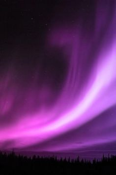 Purple Aurora Borealis oh my stars in heaven!  Wish I could have seen this!!!!