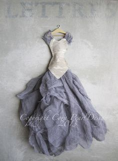 Items similar to Fine Art Photograph Still Life Fairytale Lilac Dress 10 x 8 Inches on Etsy Origami Vestidos, Paper Fashion, Fashion Art, Origami Dress, Fairy Clothes, Dress Card, Dress Vestidos, Fairy Dress, Shabby