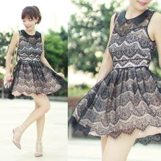Sheinside Lace Dress S, Choies Rockstuds Perspex Heels, Red Valentino Bow Bag