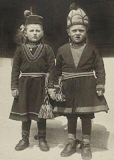 Sami children at Ellis Island, USA