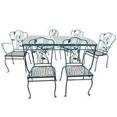 Salterini Wrought Iron patio dining set