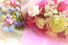 お客さんから花束♡