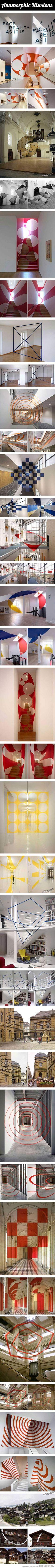Amazing anamorphic optical illusions…