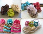Crochet Pattern stivaletti, qualsiasi 2 schemi uncinetto per 7,99
