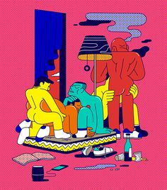 Illustration for Les Inrockuptibles Magazine about ChemSex.