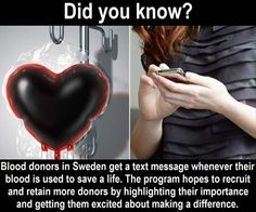 Did you know that when you donate blood in Sweden you receive a text telling you when your blood has been used to save a life? American Traditional, The More You Know, Did You Know, Wtf Fun Facts, Random Facts, Funny Facts, Funny Memes, Hilarious, Faith In Humanity Restored