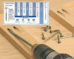 Kreg® Screws are available in multiple lengths, but there's no need to be confused. All you need to know is the thickness of your material.