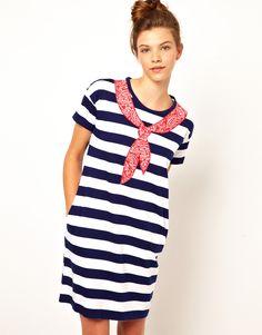 Stripe Dress With Bandana Detail