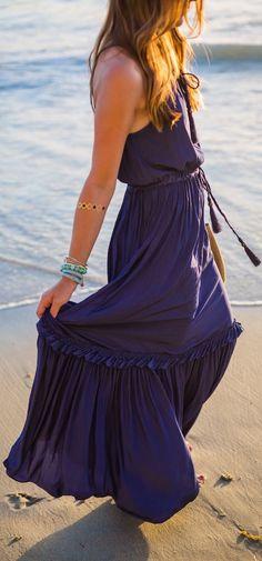 Navy Maxi Beach Dress