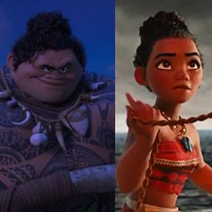 tumblr_ohse61qgt81vsn8voo1_1280.jpg (1280×1280) Maui and Moana battle mode - love that hairstyle :)
