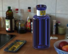 Bottle of water modelled in SolidWorks for #disenobasico