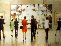 "I love ""at the museum"" painting. Life Imitating Art} Lorraine Christie @ Huff Harrington"