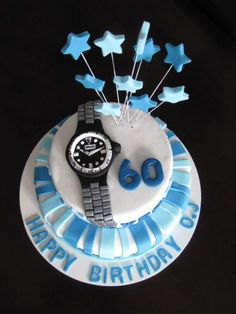 60th Birthday cake for a watch fanatic - by Homemade by Hollie