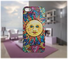 Sun Hippie Case for iPhone 5/4 Samsung Galaxy S2/S3/S4 Blackberry Q/Z - PDA Accessories