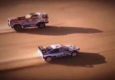 "8,696 Likes, 124 Comments - Car&Vintage® (@car_vintage) on Instagram: ""• Over 200km/h. Peugeot 405 Turbo 16 ""Ari Vatanen"" vs DAF Turbo twin ""Jan De Rooy"" Paris - Dakar…"""