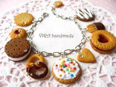 Realistic cookie charm bracelet by virahandmade.deviantart.com on @deviantART