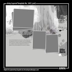 Artsy Layered Template No. 142